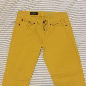 Mustard J. Crew skinny jeans
